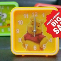 Jual (SALE) Jam Beker Meja Kotak Hello Kitty Keroppi Mickey Pooh Murah