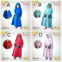 Gamis Labella REG+SB1-TYB   Gamis Anak size 6 8 10   Dress Muslim
