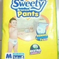 Popok Sweety Bronze Pants M34+4 Tipe Celana