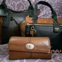 Tas Fossil Tessa satchel original multi / multy black Rare