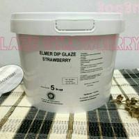 Jual Elmer Dip Glaze Strowberry 5Kg | Strowberry Chocomaltine Murah