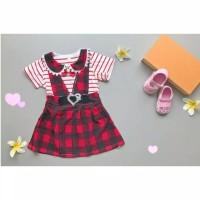 Jual Overall Dress Kotak Anak Bayi Gaun Anak Perempuan Impor Murah