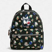 Jual Coach Mini Charlie Backpack Floral black Multi. Tas Coach Original Murah