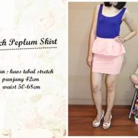 Jual AQ2894 Peach Peplum Skirt 90 KODE X2894 Murah