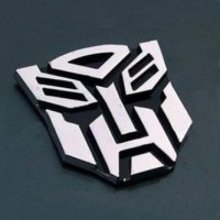 Jual Stiker Mobil / Emblem Metalik Motif Transformer Paling Dicari Murah