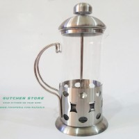 Jual [PRAKTIS] Teko Penyaring Teh & Kopi | Tea & Coffee Plunger Hetai 600mL Murah