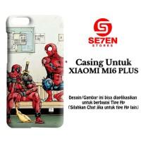 Jual Casing XIAOMI MI6 PLUS Funny Spiderman and Deadpool Custom Hard Case Murah