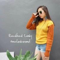 Jual L5270 Sweater Wanita Roundhand Comby Mustard C KODE PL5270 Murah