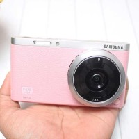 Jual SAMSUNG NX MINI kit 9mm f3.5 PINK LENGKAP BOX Murah