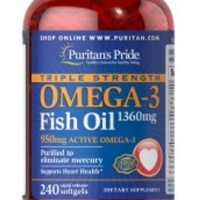 Jual Double Strength Omega 3 Fish Oil 1200mg 240 Soft (KS-0565) Murah