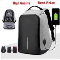 Jual Tas Ransel USB port charger,Smart Backpack Anti Air Anti Maling-thief Murah