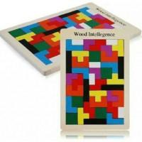 Jual Mainan Edukatif / Edukasi Anak - Tetris Wood Intelligence tangram ka  Murah