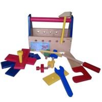 Mainan Edukatif / Edukasi Anak - Kayu - Alat Pertukangan Tool Box Se