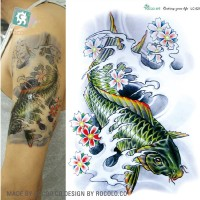 Jual Tato japanese koi color warna Temporary Tattoo tato temporer besar  Murah
