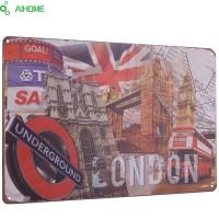 Jual Poster kaleng hiasan dinding london british flag wall retro sign can  Murah
