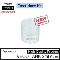 Jual Vaporesso VECO TANK 2ml Replacement Glass | tarot nano kit 22 rta 22mm Murah