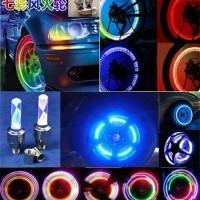 Jual WC O6 Tutup Pentil LED Ban Motor Mobil Sepeda 7 Warna Warni Magic Tir Murah