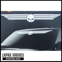 Jual Sticker Mobil - Stiker Mobil Harley Davidson Skull Windshield Murah