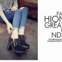 Jual Sepatu Boots Heels Stut Hitam BT10 for LADIES Murah