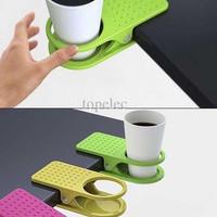 Jual BEST SELLER Plastic Table Coffee Cup Holder Cup Clip tempat minum meja Murah