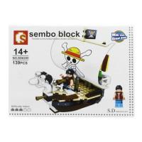 Jual Lego / Sembo Block (SD6205) One Piece / Pirate ship Murah