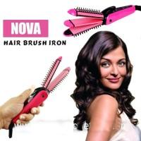 Jual  Catok Sisir Nova Curly Brush Iron Curly 3 in 1 Nhc8890 T1310 Murah