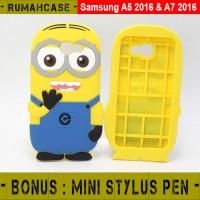 Jual  Sony Xperia M4 Aqua Minion 3D Cute Soft Case Casing Karakter T1310 Murah