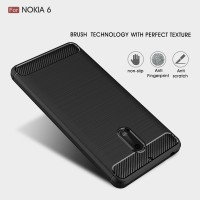 CARBON CASE Nokia 6 Casing HP Full Cover Softcase Spigen Armor Rugged