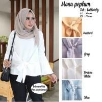 Jual  Pakaian Baju Atasan Wanita Mona Peplum  Busana Muslim Hijab  Murah