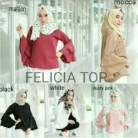 Baju Muslimah O6 Baju Atasan Felicia Top Tunik Baju Muslim Blus Musli