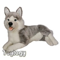 Boneka Hewan Anjing Husky ( Siberian Husky Dog Doll ) 21 inch