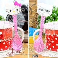 Jual mug tutup jumbo + sendok hello kitty red Murah