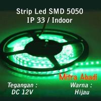 Jual LED Strip SMD 5050 Hijau Green DC 12V IP33 INDOOR ONLY Murah