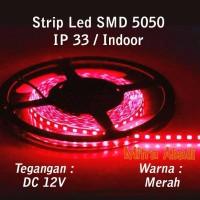 Jual LED Strip SMD 5050 Merah Red DC 12V IP33 INDOOR ONLY Murah