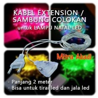 Jual Kabel Extension Kabel Colokan Sambung for Lampu Natal Panjang 2 Mete Murah