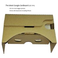 Jual Terlaris Google Cardboard VR 2nd Generation up to 6 Inch (big lens) Murah