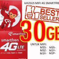 Jual Perdana Smartfren 4g 30gb for all mifi m2p,m2y,m2s,m3z,m3y,m3s Murah