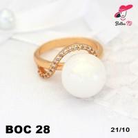 harga Perhiasan Xuping Cincin Wanita Gold Mutiara Putih Lapis Emas Oc 28 Tokopedia.com