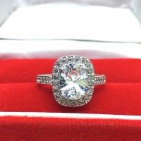 Cincin Berlian Lapis Emas Perak (Perhiasan, Kalung, Gelang) - BR019