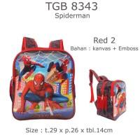 Jual Tas Ransel Anak Spiderman 8343 Red 2 Murah