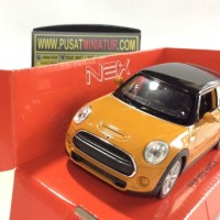 NEW MINI HATCH (KUNING) - SKALA 36 - WELLY (DIECAST-MINIATUR)