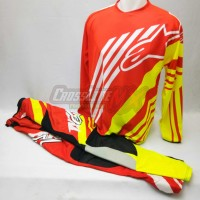harga Jersey Set Alpinestar Original Motocross Red Yellow Flou Merah Kuning Tokopedia.com