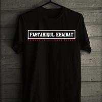 "Baju Kaos Muslim Islami ""Fastabiqul Khairat"""