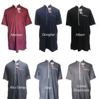Jual Gamis Pria Arafah Lengan Pendek / Baju Gamis Pria / GRATIS PECI RAJUT Murah