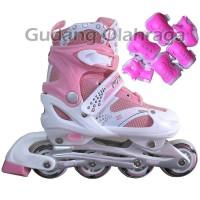 Jual Sepatu Roda + Deker / Pelindung Inline Skate Satu Set Murah
