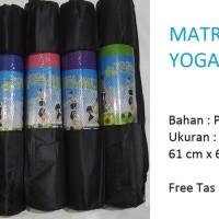 Jual Matras Yoga / Yoga Mat PVC tebal 6 mm free tas Murah