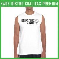 Kaos Rolling Stones 14 ON FIRE 1 Singlet/Tanpa Lengan TPL-RTS01 Pria