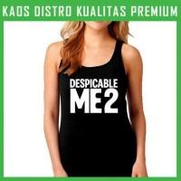 Jual Kaos Minion Despicable Me 2 Logo 3 Tanktop Wanita Cewek TKT-MIN03 Murah