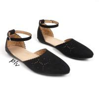 harga |plv| Best Seller Sepatu Flat Shoes Wanita Tali Ps04 - Hitam Tokopedia.com