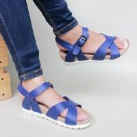harga |plv| Best Seller Sandal Platform Wedges Cross Tali Biru Tokopedia.com